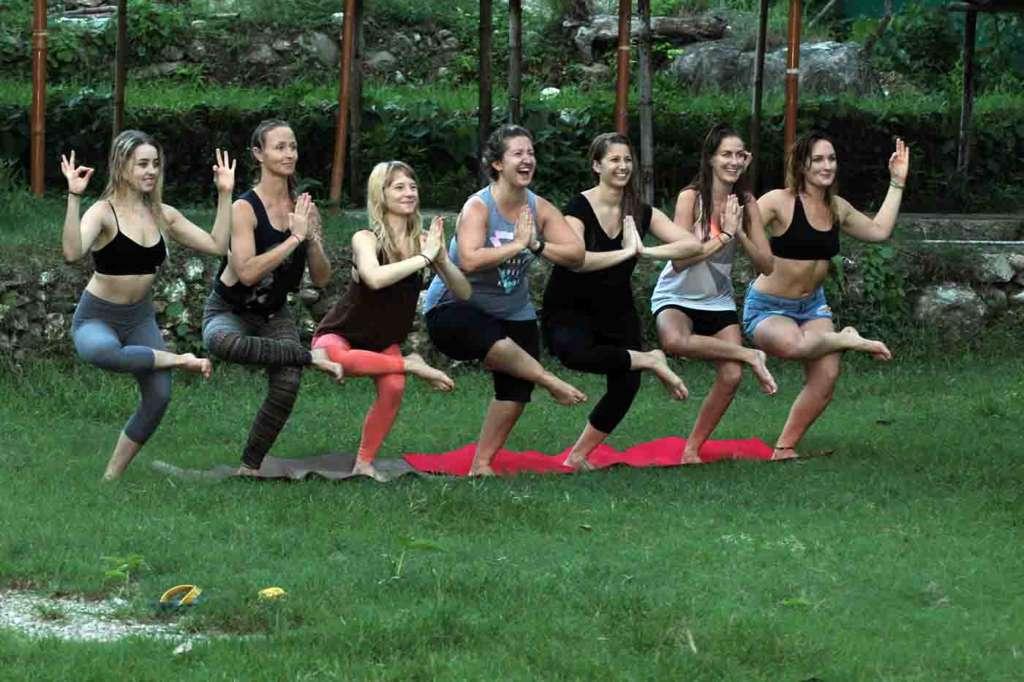 Beginner Yoga learners at Mantra Yoga & Meditation India