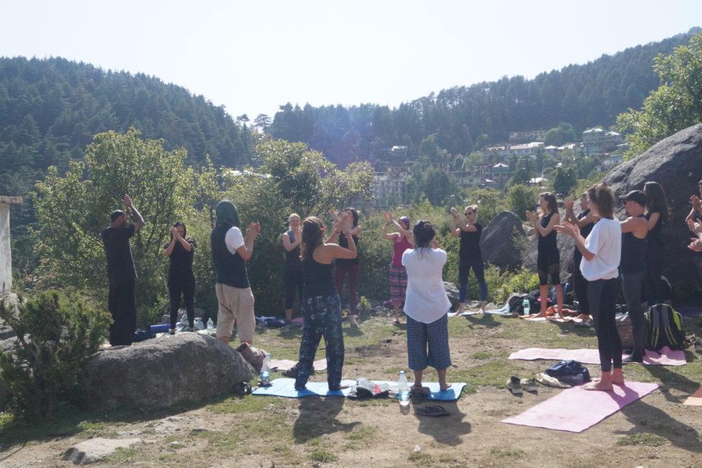 Laughter Yoga at Mantra Yoga Retreat and Teacher Training dharamsala 1024x682 - Retreats