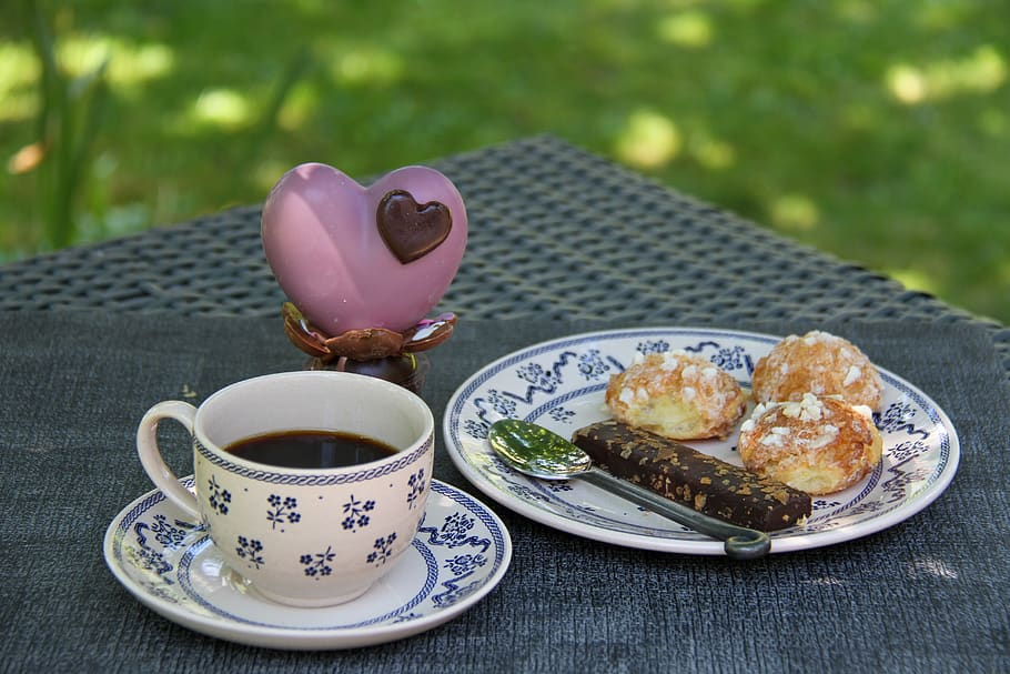 coffee small chou buns pastry chocolate heart party moms - What is balancing Yogic Diet According to Tri Guna?